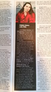 Yep, that's my bio, nearly verbatim, in the Laughlin, NV Entertainers magazine.