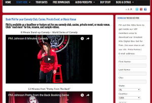 Digital EPK for Musicians and Comedians