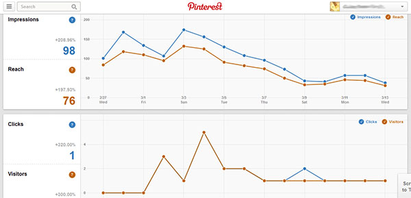 Pinterest Analytics Stats